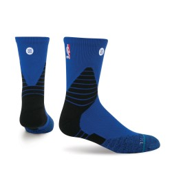 Chaussettes NBA Stance Solid Crew Mid oncourt bleu