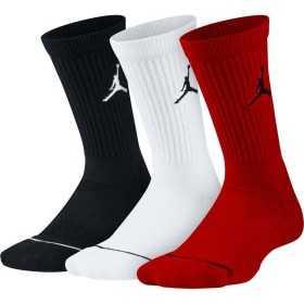 SX5545-011_Chaussettes Jordan Crew Noir Rouge blanche 3 paires