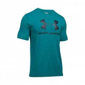 1257615-158_T-shirt Under Armour Sportstyle Logo Vert Foncé pour homme