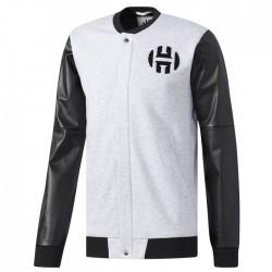 CE4707_Veste adidas Harden Varsity Jacket noir gris pour homme