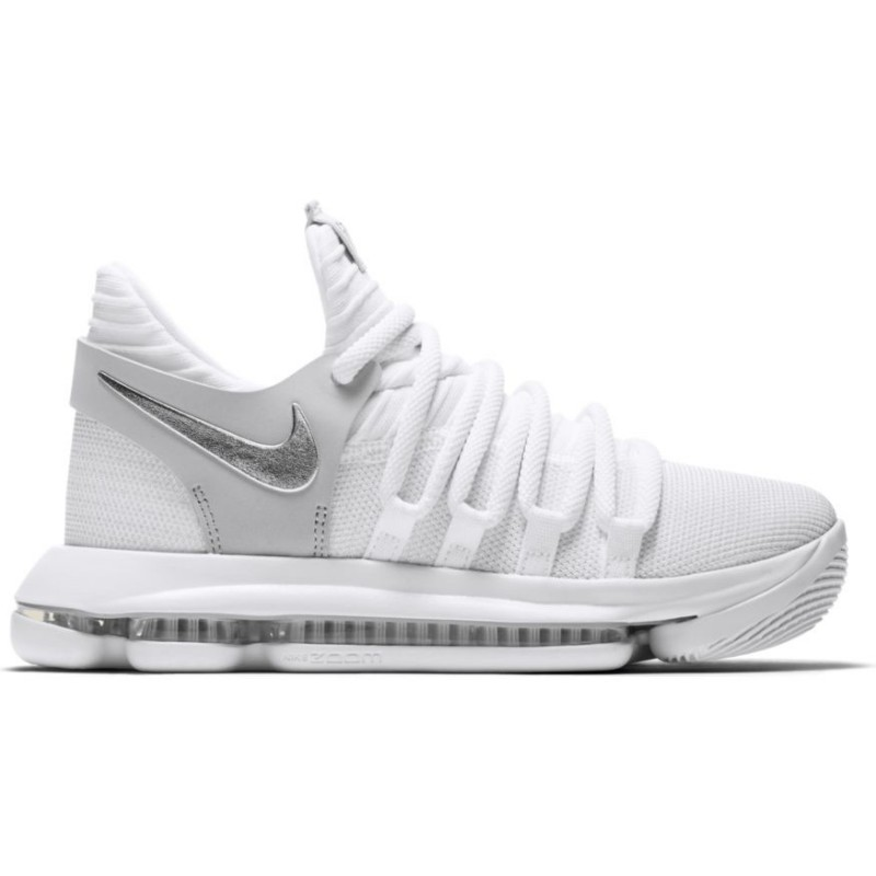 cheap for discount c8740 9661c ... italy 918365 100chaussure de basket nike zoom kd 10 gs blanche pour  junior fb413 6ded5