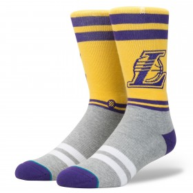 M558A17CLA_Chaussettes NBA Stance Lakers Arena City Gym jaune