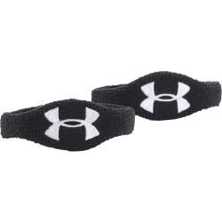 """1265321-100_Under Armour Wristband 1/2""""  2 bandeaux poignet et biceps Noir"""