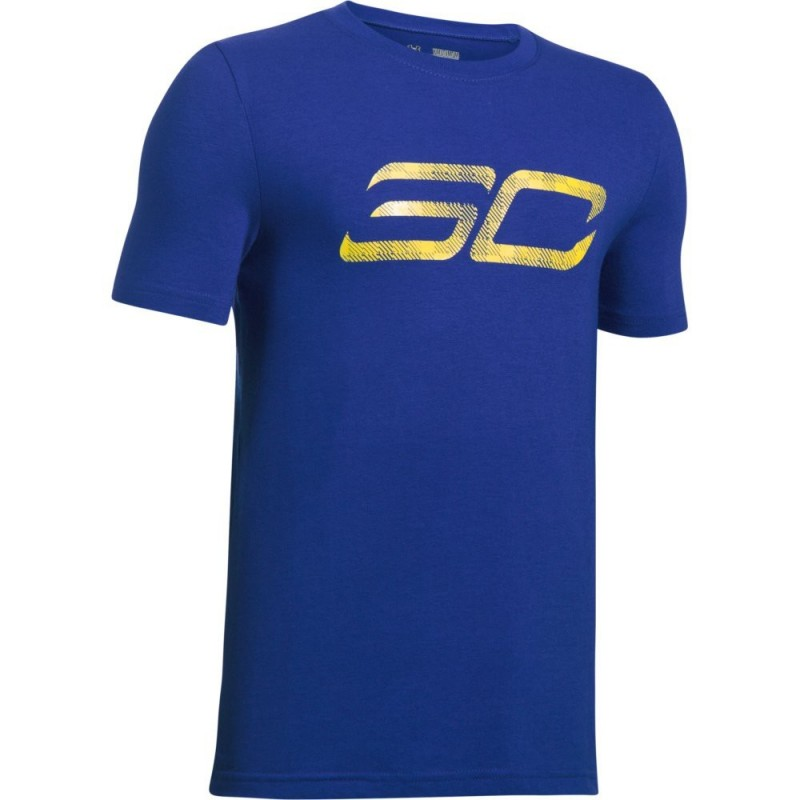 T shirt stephen curry under armour sc30 logo bleu pour for Stephen curry under armour shirt