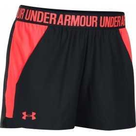 1292231-003_Short Under Armour play up 2.0 noir rouge pour femme