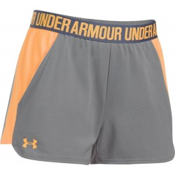 1292231-030_Short Under Armour play up 2.0 gris orange pour femme