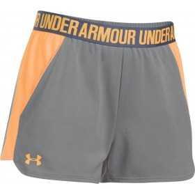 1292231-030_Short Under Armour play up 2.0 gris orange pour femme