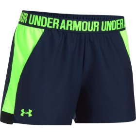 Short Under Armour play up 2.0 negro verde para mujer