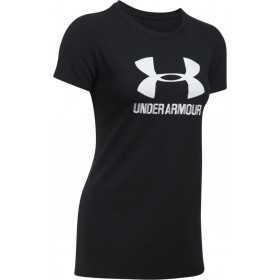 1298611-002_T-shirt Under Armour Sportstyle Crew Noir pour femme
