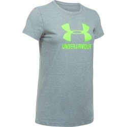 1298611-025_T-shirt Under Armour Sportstyle Crew Gris pour femme