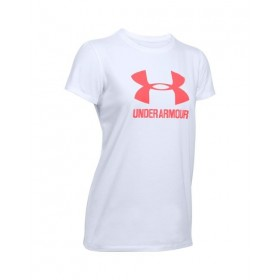 1298611-100_T-shirt Under Armour Sportstyle Crew Blanc pour femme