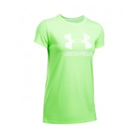 T-shirt Under Armour Sportstyle Crew verde para mujer