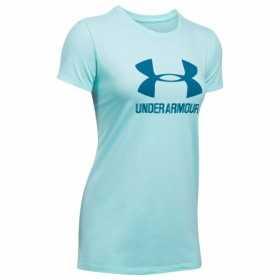 1298611-942_T-shirt Under Armour Sportstyle Crew Bleu Ciel pour femme