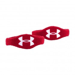 "1265321-600_Under Armour Wristband 1/2""  2 bandeaux poignet et biceps Rouge"