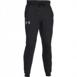 1269881-001_Pantalon Under Armour Rival Cotton Jogger Noir pour Homme