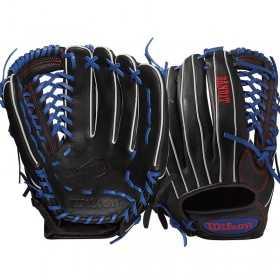 "WTA12RB17KP92_Gant de Baseball Wilson Bandit 12.5"" noir et bleu"