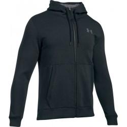1299134-016_Veste Zippé Under armour Threadborne Hoody Noir gris Pour Homme