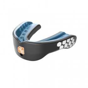 6901A_Protège dents Shock Doctor Gel Max power carbon avec strap Noir Carbon