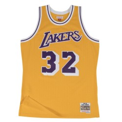 MN-NBA-353J-302-FGYEJH-LALAKER_Maillot NBA swingman Magic Johnson Los Angeles Lakers Hardwood Classics Mitchell & ness jaune