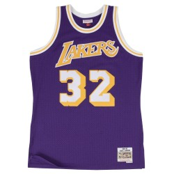 195662_Maillot NBA swingman Magic Johnson Los Angeles Lakers Hardwood Classics Mitchell & ness violet