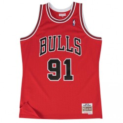195661_Maillot NBA swingman Denis Rodman Chicago Bulls Hardwood Classics Mitchell & ness Rouge