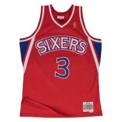 195656_Maillot NBA swingman Allen Iverson Philadelphie Sixers Hardwood Classics Mitchell & ness Rouge