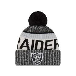 11460386_Bonnet NFL On Field Oakland Raiders 2017 New Era Sideline Noir