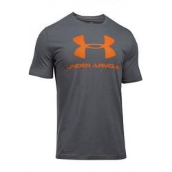 1257615-041_T-shirt Under Armour Sportstyle Logo Gris rouge pour homme