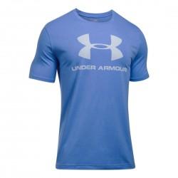 1257615-464_T-shirt Under Armour Sportstyle Logo bleu blanc pour homme
