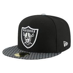 11462070_Casquette NFL Oakland Raiders New Era On Field 2017 59FIFTY Noir