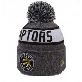 80524572_Bonnet NBA Toronto Raptors New Era Marl Knit avec pompon gris