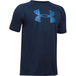 1228803-424_T-shirt pour enfant Under Armour Tech Big Logo bleu