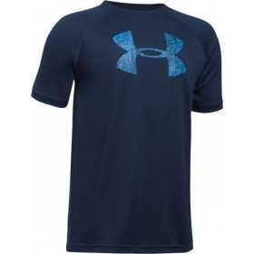 1228803-424_T-shirt pour enfant Under Armour Tech Big Logo bleu