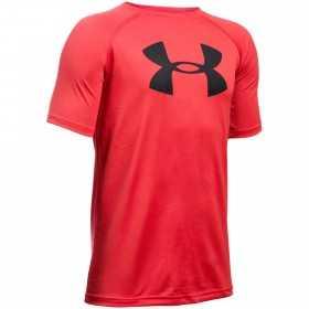 1228803-600_T-shirt pour enfant Under Armour Tech Big Logo rouge