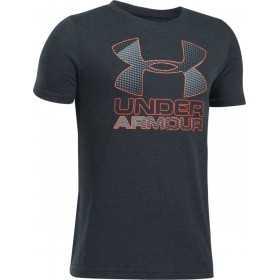 1290097-016_T-shirt pour enfant Under Armour Big Logo Hybrid 2.0 Noir