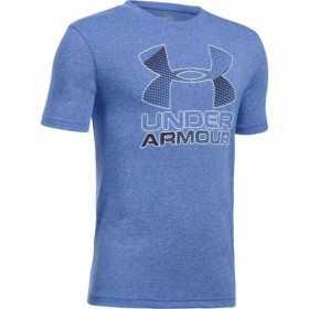 1290097-907_T-shirt pour enfant Under Armour Big Logo Hybrid 2.0 Bleu