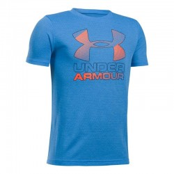 1290097-984_T-shirt pour enfant Under Armour Big Logo Hybrid 2.0 Bleu