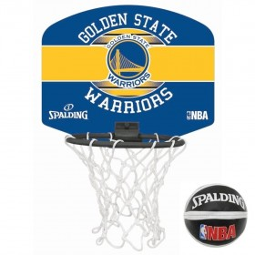 Spalding Mini panier Golden State Warriors Bleu