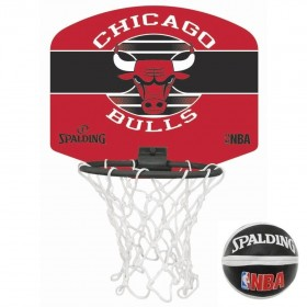 Spalding Mini panier Chicago Bulls Rouge
