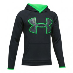 Sweat à Capuche Under Armour enfant AF Big Logo Noir / Vert