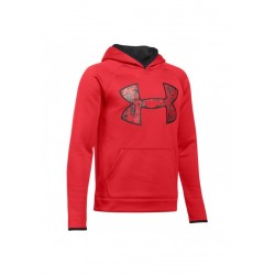 Sweat à Capuche Under Armour enfant AF Big Logo Rouge