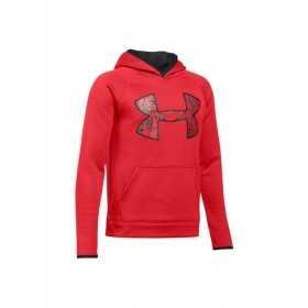Sweat à Capuche Under Armour enfant AF Big Logo Rouge