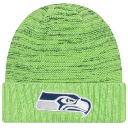 11461022_Bonnet NFL sans pompon Seattle Seahawks On Field 2017 New Era Knit Rush Vert