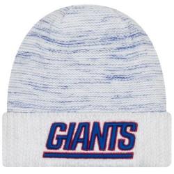 Bonnet NFL sans pompon New York Giants On Field 2017 New Era Knit Rush Blanc