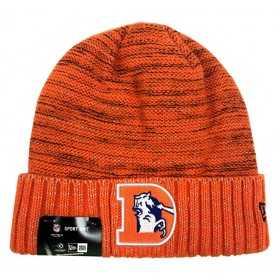 11461041_Bonnet NFL sans pompon Denver Broncos On Field 2017 New Era Knit Rush orange