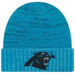 11461046_Bonnet NFL sans pompon Carolina Panthers On Field 2017 New Era Knit Rush Bleu