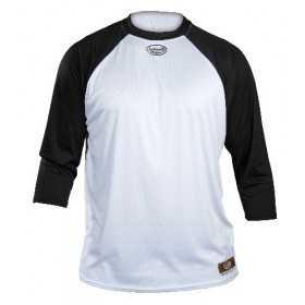 T-shirt Baseball 3/4 Louisville Blanc / Noir