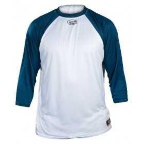 T-shirt Baseball 3/4 Louisville Blanc / Navy