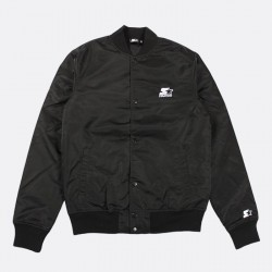 STJKT001_Jacket Nylon Starter Black
