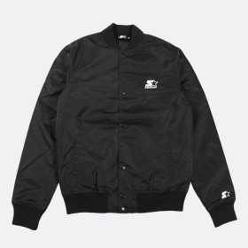 STJKT001_Jacket Nylon Starter Black